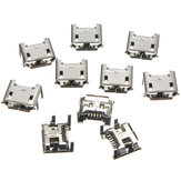 30pcs Micro USB Type B 5 Pin Female Socket 4 Vertical Legs For Solder Connector