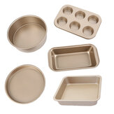Baking Tools Cake Tin Round Circle Storage Sphere Mould Pan Set Non-Stick Carbon