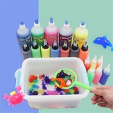 ECAI 10PCS 60ML DIY Magice Water Elf Animals Toy Water Absorption Swell Toy Slime Clay With Mould Box Packing