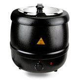 10L Black Electric Soup Kettle Warmer Countertop Pot Heater Kitchen Food Cooker