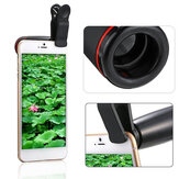 Portable 8X 12X Telephoto Phone Lens Kit Wide Angle Macro Fish Eye Lens with Selfie Stick Monopod