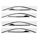 2 stk Vinduesramme klistermærke dekaler trim til Honda Civic Coupe 2 dør
