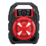 Tragbare 9W Bluetooth drahtlose Lautsprecher Colorful Licht Hifi Stereo Freisprecheinrichtung im Freien mit Mikrofon Unterstützung FM TF USB