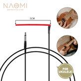 NAOMI 10PCS Ukelele Piezo Saddle 4 String Ukelele Equalizer 50mm Red Pickup Piezo For Hawaii Guitar Uke Use