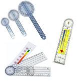 PVC transportador Médico goniómetro regla de ángulo regla conjunta
