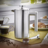 350ml Doublewall Stainless Steel Koffiezetapparaat Franse Press Thee Maker Handy Coffee Machine