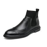 Comfortabele elastische instap Chelsea-laarzen voor heren