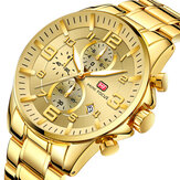 MINI FOCUS MF0278G Royal Golden Stainless Steel Men Watch