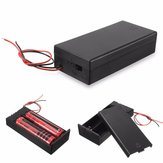 Plastic Battery Holder Storage Box Case Container ON/OFF Switch For 2x18650 Batteries 3.7V
