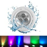 6W AC12V 3 LED Natación empotrada Piscina Light Spa RGB White Fountain Night Lámpara