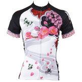 女性サイクリングジャージレディースシャツスリーブサイクリングバイクオートバイシャツクイックドライ