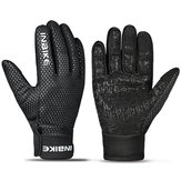 INBIKE Polar Fleece Bike Cycling Full Finger Gloves Anti-slip Silica Gel Touch Screen Outdoor Windproof Gloves