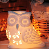 Ceramic Oil Burner Melt Wax Warmer Aroma Diffuser Tealight Candle Holder Hollow Owl