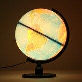 Creative mundo iluminado mundo globo girando noite luz desktop decoração