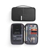 RFID Bloqueio de Armazenamento de Cartão de Viagem Bolsa Suporte para Organizador de Documentos para Passaporte