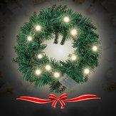 30 CM 40 CM Ciepłe białe ściany wiszące Garland Ornament Christmas Wreath Decor z LED Light na Boże Narodzenie