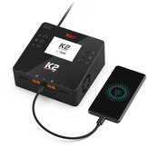 ISDT K2 AC 200W DC 500Wx2 20A Dual Channel Balance Lipo Charger Discharger for Lipo NiMh Pb Battery