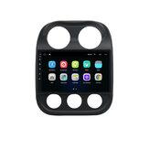 YUEHOO 10.1 pouces Android 10.0 autoradio lecteur multimédia 2G / 4G + 32G GPS WIFI 4G FM AM RDS bluetooth pour Jeep Compass 2010-2016