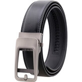 125CM Men's Cowhide Automatic Buckle Belt Leather Waistband