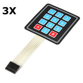 3Pcs 4 x 3 Matrix 12 Key Array Membrane Switch Keypad Keyboard Geekcreit for Arduino - products that work with official Arduino boards
