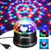 Disco Lights SOLMORE 51 diod LED Party Stage 12W RGB Disco Ball Light Sound Unikalny sekwencyjny efekt migania na festiwalu dla dzieci Birthday Party Bar