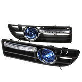 Paar Mistlamp LED DRL Dagrijverlichting met Grill Voor VW Golf Jetta Bora Mk4 1999-2004