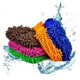 1 stuk Car Cache Handschoenen Chenille Wash Mitt Borstel Wasgereedschap