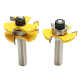 Lock Miter Router Bit 1/2 Inch Shank Tongue and Groove Glue Joint Set 1-7/8 Inch Cutter