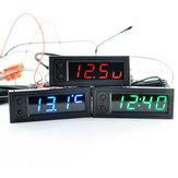 High Precision 3 IN 1 Car Clock Luminous Thermometer Voltmeter Car Temperature Battery Voltage Monitor Panel Meter DC 12V Clock