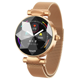 Bakeey B80 Female Menstrual Period Record Blood Pressure Milanese Steel Fashion Smart Watch Whatsapp Reminder 8 Sports Mode