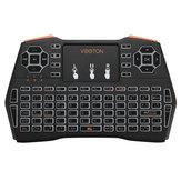 VIBOTON I8 Plus Biała podświetlana wersja hiszpańska 2.4G Bezprzewodowa mini klawiatura Touchpad AirMouse
