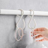 U 10Pcs S Shape Double Hooks White Clothes Hanger For Bathroom Kitchen Bedroom from Xiaomi Youpin