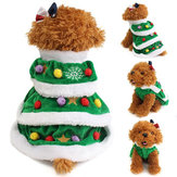 Christmas Festival Tree Pet Dog Cat Coat Puppy Warm Clothes Costumes Odzież Sukienka