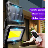 120 LED Outdoor Solar Power Motion Sensor Wall Light Waterproof Garden Yard Lamp with Remote