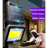 120 LED Capteur de mouvement solaire extérieur Lampe murale étanche pour jardin avec télécommande