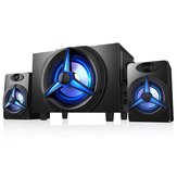 SAD K9 Bluetooth 5.0 Altavoces Desktop 2.1 Altavoces HiFi Heavy Bass Tarjeta TF U Disk Stereo Speaker