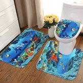 Океанский дельфин Ванная комната Ковровое покрытие Комплект подставки для коврика
