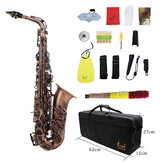 Slade Red Bronze Bend Eb E-flat Alto Saxophone Sax Abalone Shell Key Carve Pattern with Case Gloves