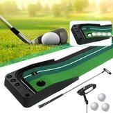 3M Golf Putting Mat + Putter + 3 peças Bola de golfe Putter de golfe Ferramentas de retorno de bola de golfe Fairway