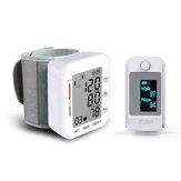 Moniteur de pression artérielle numérique pouls compteur de fréquence cardiaque sphygmomanomètre + oxymètre de pouls pince à doigt moniteur de Saturation en oxygène sanguin