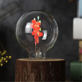 E27 3W G80 Snowflake Non-Dimmable Red&Green Christmas Incandescent Light Bulb AC220-240V