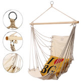 17x32inch Outdoor Hammock Chair Hanging Chairs Swing Cotton Rope Net Swing Cradles Kids Adults Swing Seat Chair