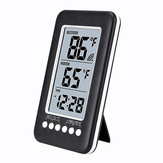 Wireless Digital LCD Display Thermometer Radio Wave Time Thermometer einstellen