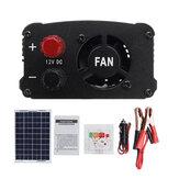 LEORYLCDコントローラーAC230V1000Wソーラーパワーシステムソーラーパネル+ソーラーコントローラー+インバーターセット