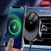 Suporte magnético para telefone celular de carregamento sem fio de 15 W Saída de ar do carro para iPhone 12 Series