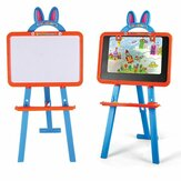 3 IN 1 Magnetic Writing Drawing Board Double Side Learning Easel Educational Toys for Kids