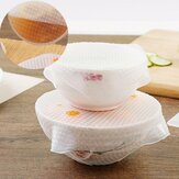 4Pcs/pack Transparent Silicone Cling Seal Film Multifunctional Food Fresh Keeping Saran Wrap