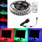 0.5M / 1M / 2M / 3M / 4M / 5M USB RGB 5050 nicht wasserdicht WS2812 LED TV Streifen Licht + Fernbedienung Satz DC5V