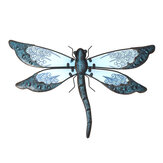 Metal Dragonfly Wall Artwork for Garden Decoration Miniaturas Animal Outdoor