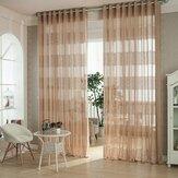 Detección de estilo europeo jacquard transpirable gasa cortinas transparentes ventana del dormitorio sala de estar 2 Panel